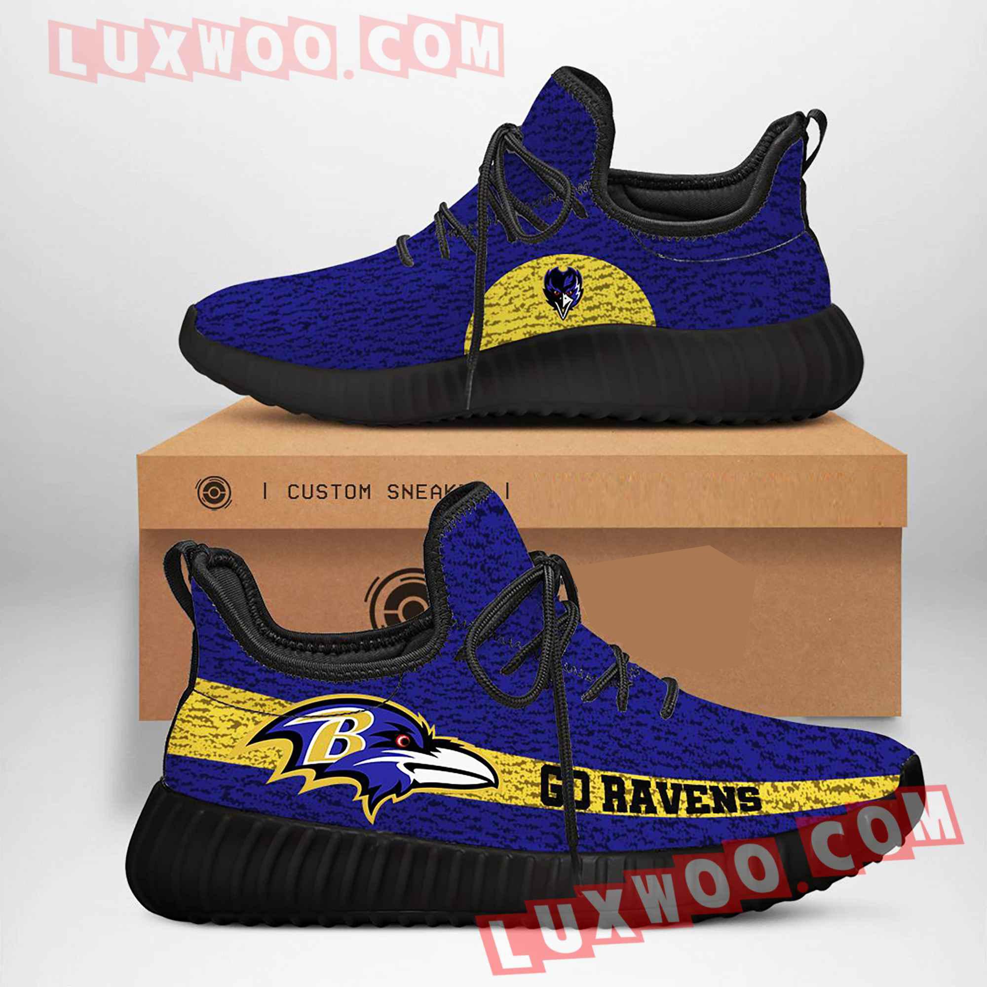 Baltimore Ravens Nfl Yezzy Custom Shoes Sneaker V2