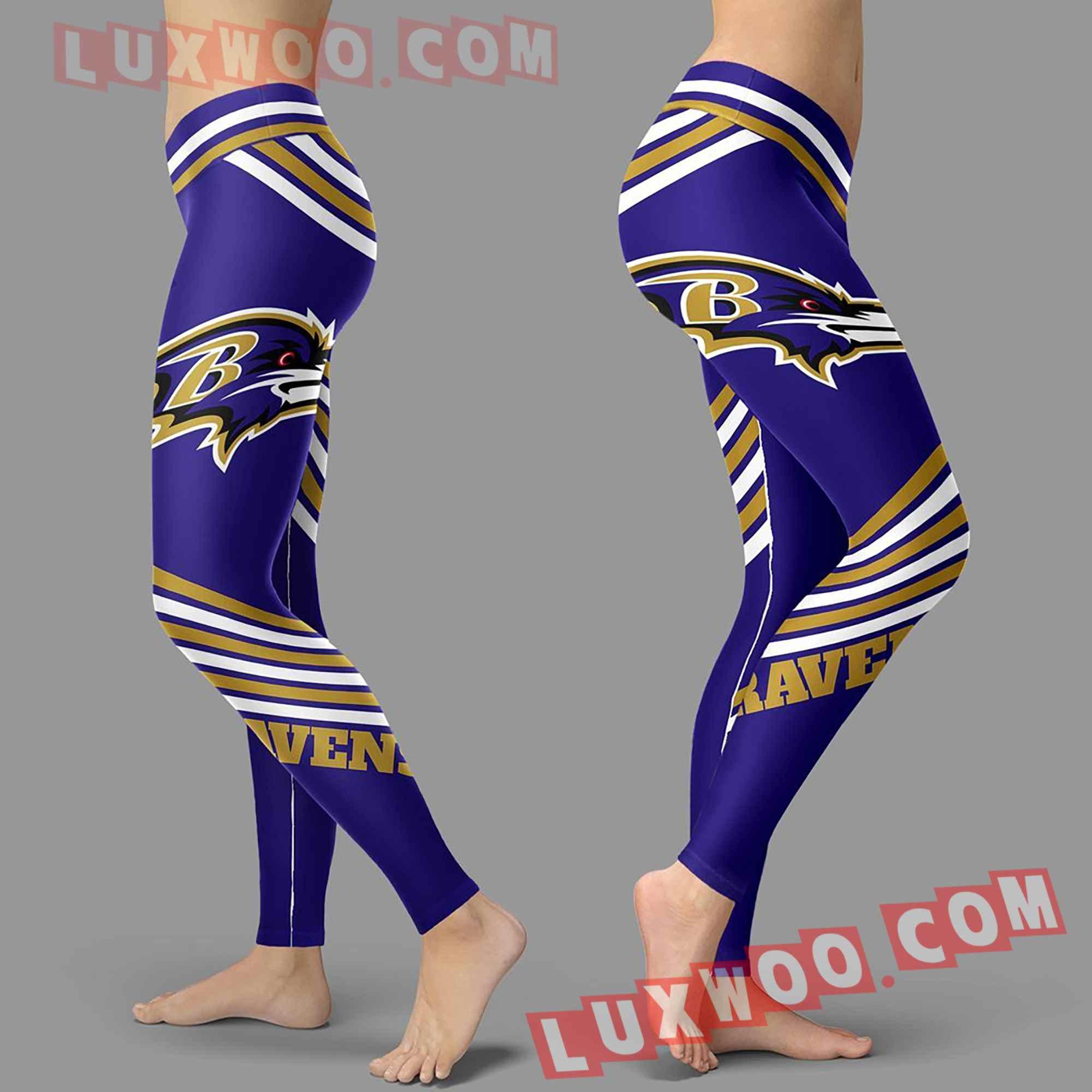 Nfl Baltimore Ravens Leggings Custom All Over Print 3d Leggings V2