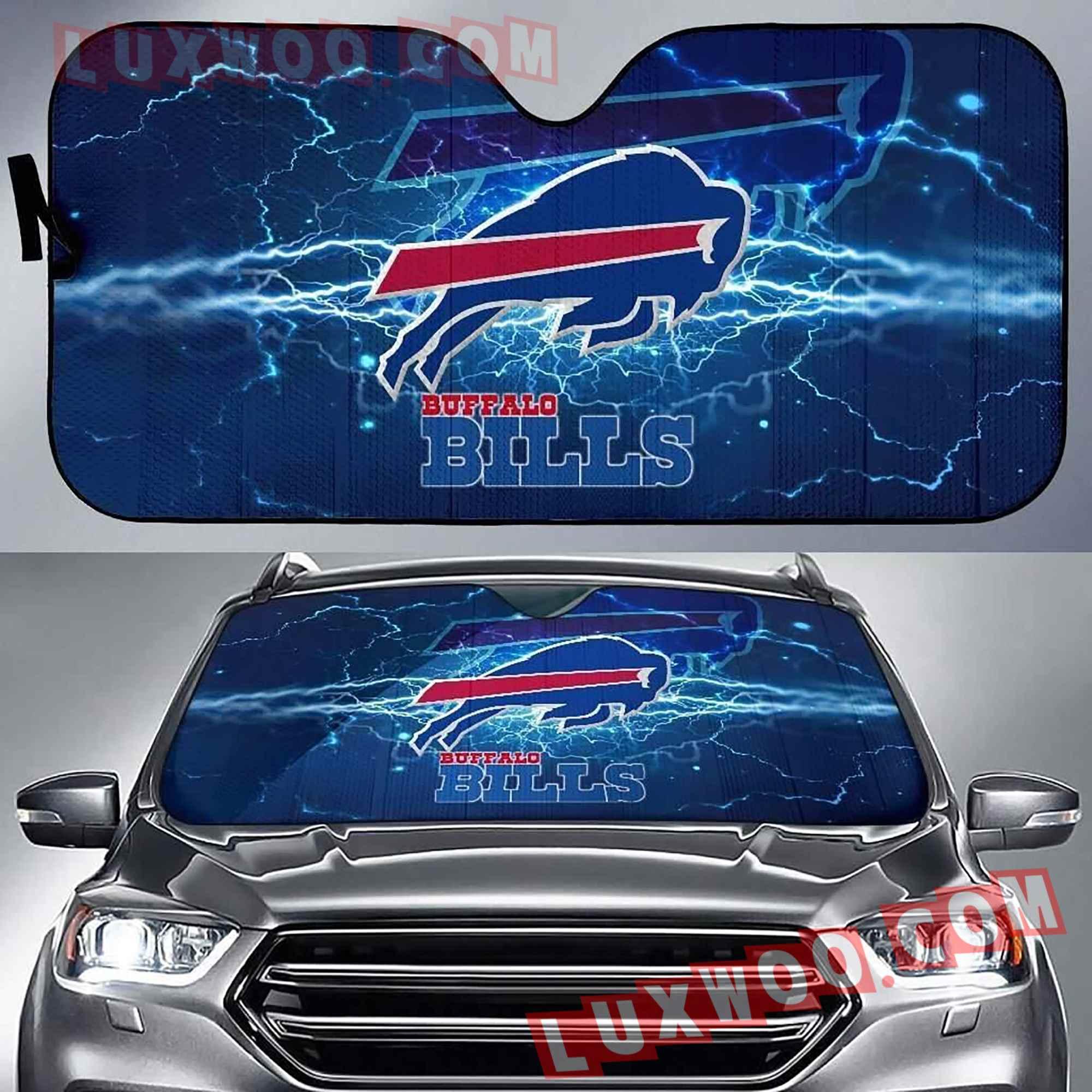 Buffalo Bills Nfl 3d Auto Sun Shades V1