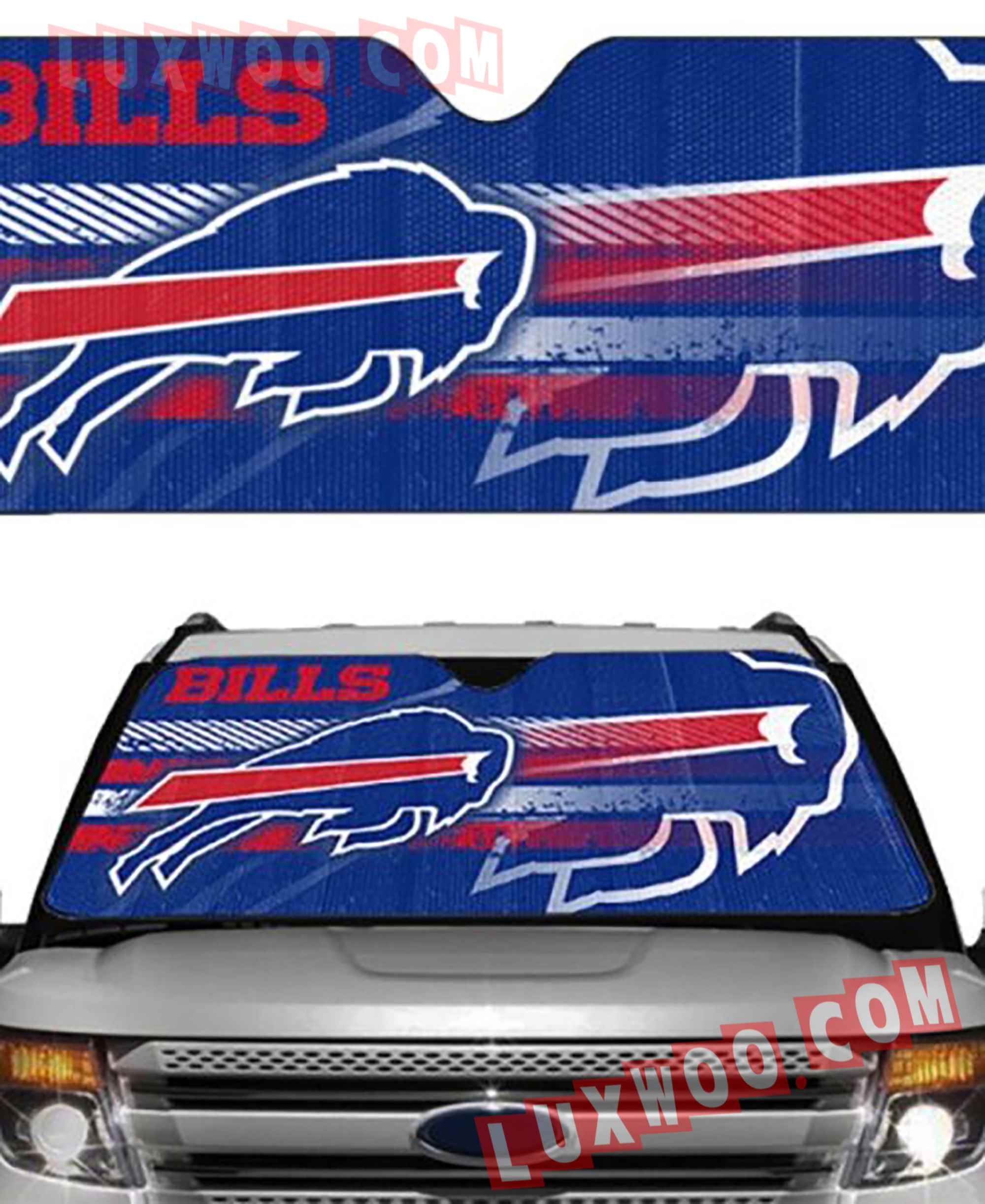 Buffalo Bills Nfl 3d Auto Sun Shades V2