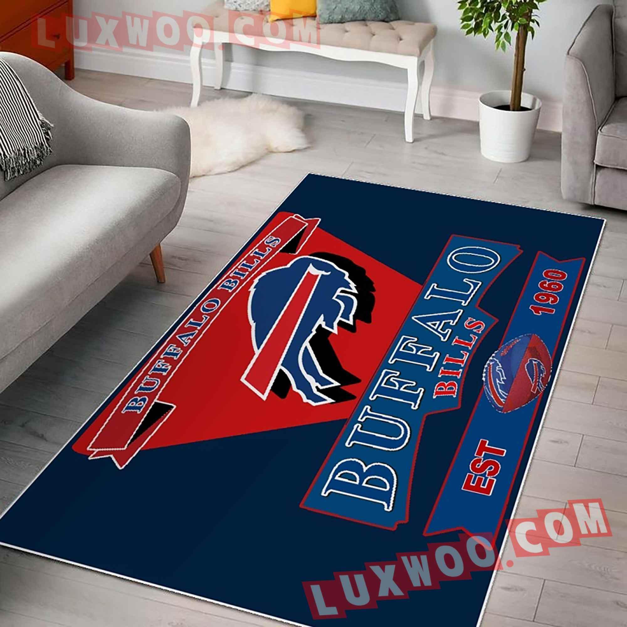 Buffalo Bills Nfl 3d Living Room Rugs V2