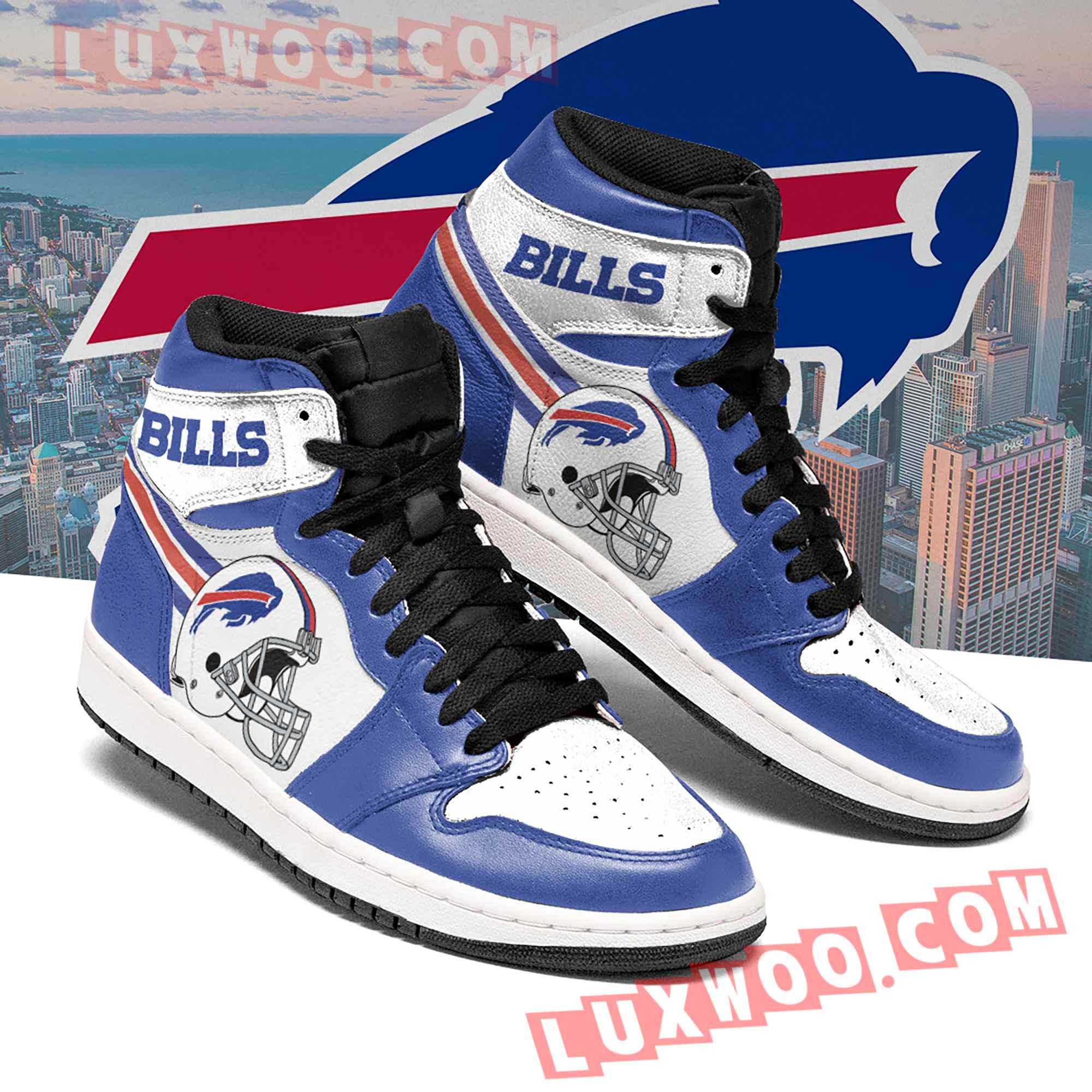 Buffalo Bills Nfl Air Jordan 1 Custom Shoes Sneaker V3