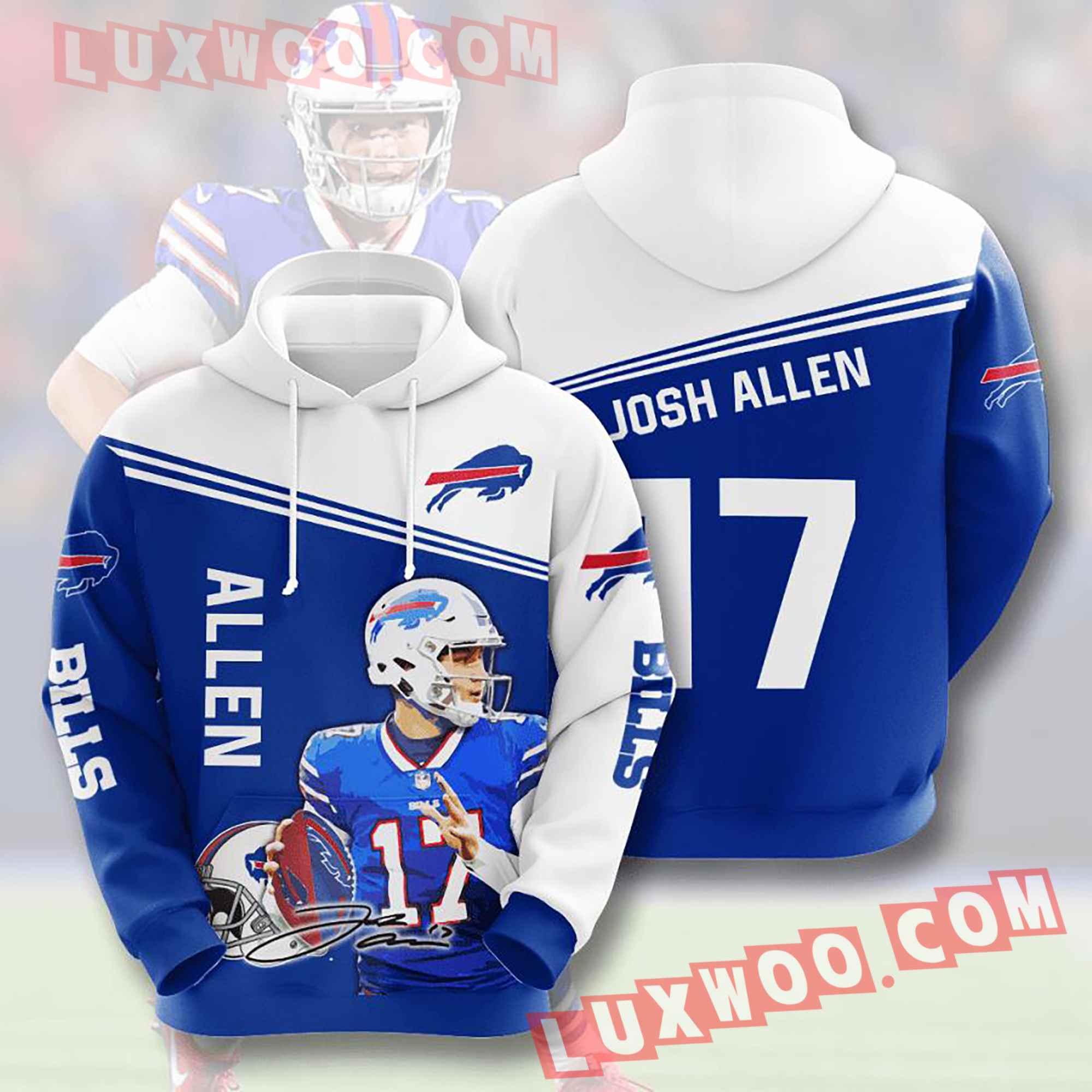 Nfl Buffalo Bills Hoodies Custom All Over Print 3d Pullover Hoodie V12