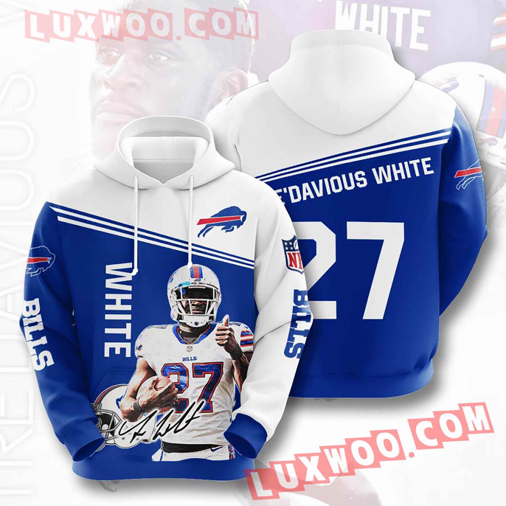 Nfl Buffalo Bills Hoodies Custom All Over Print 3d Pullover Hoodie V15