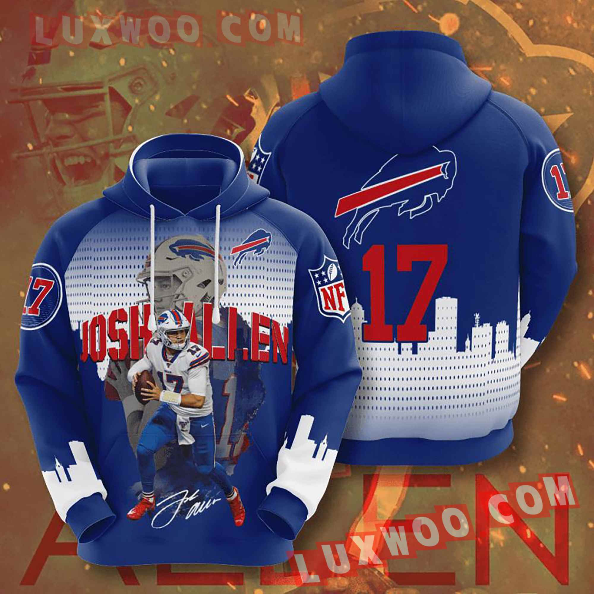 Nfl Buffalo Bills Hoodies Custom All Over Print 3d Pullover Hoodie V20