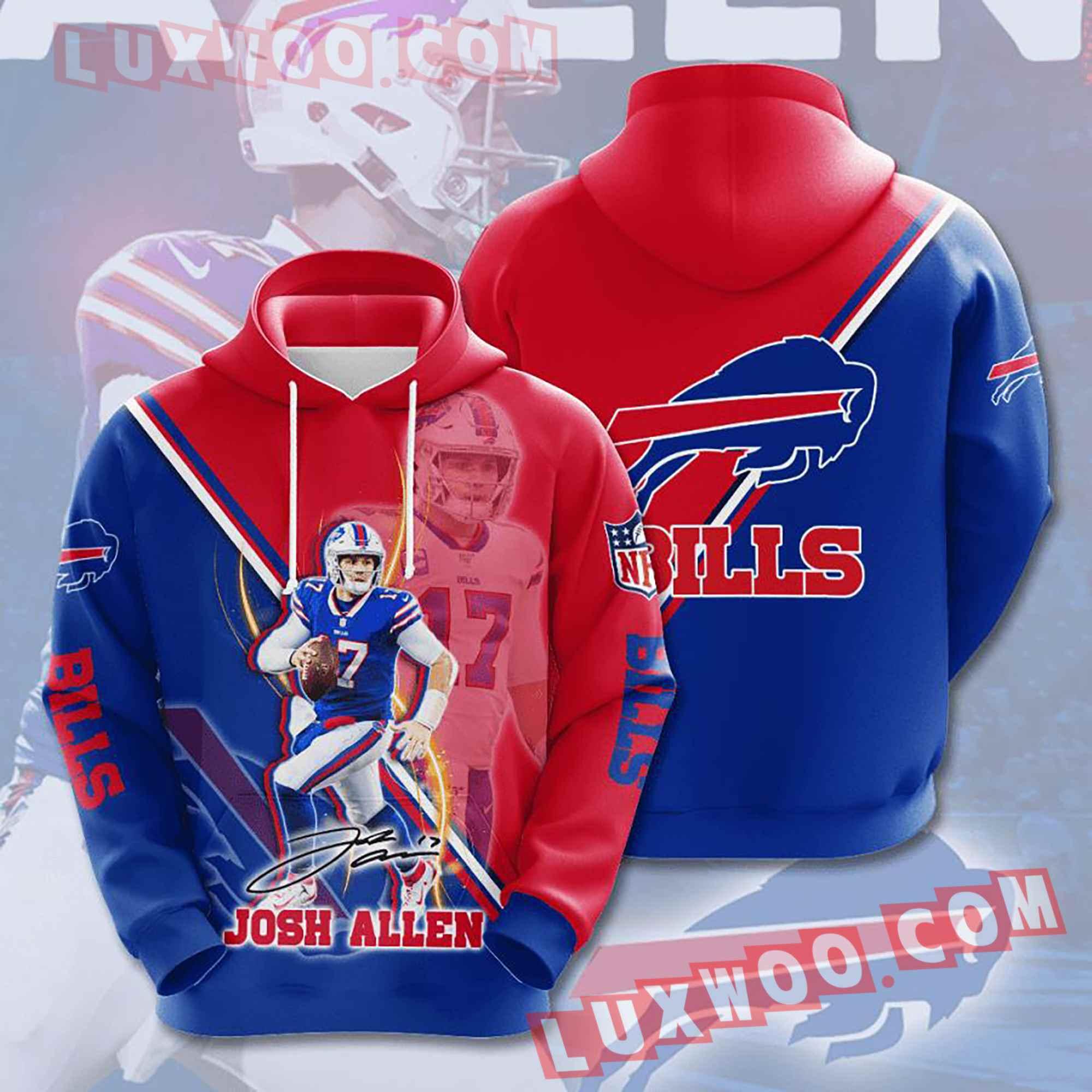 Nfl Buffalo Bills Hoodies Custom All Over Print 3d Pullover Hoodie V21