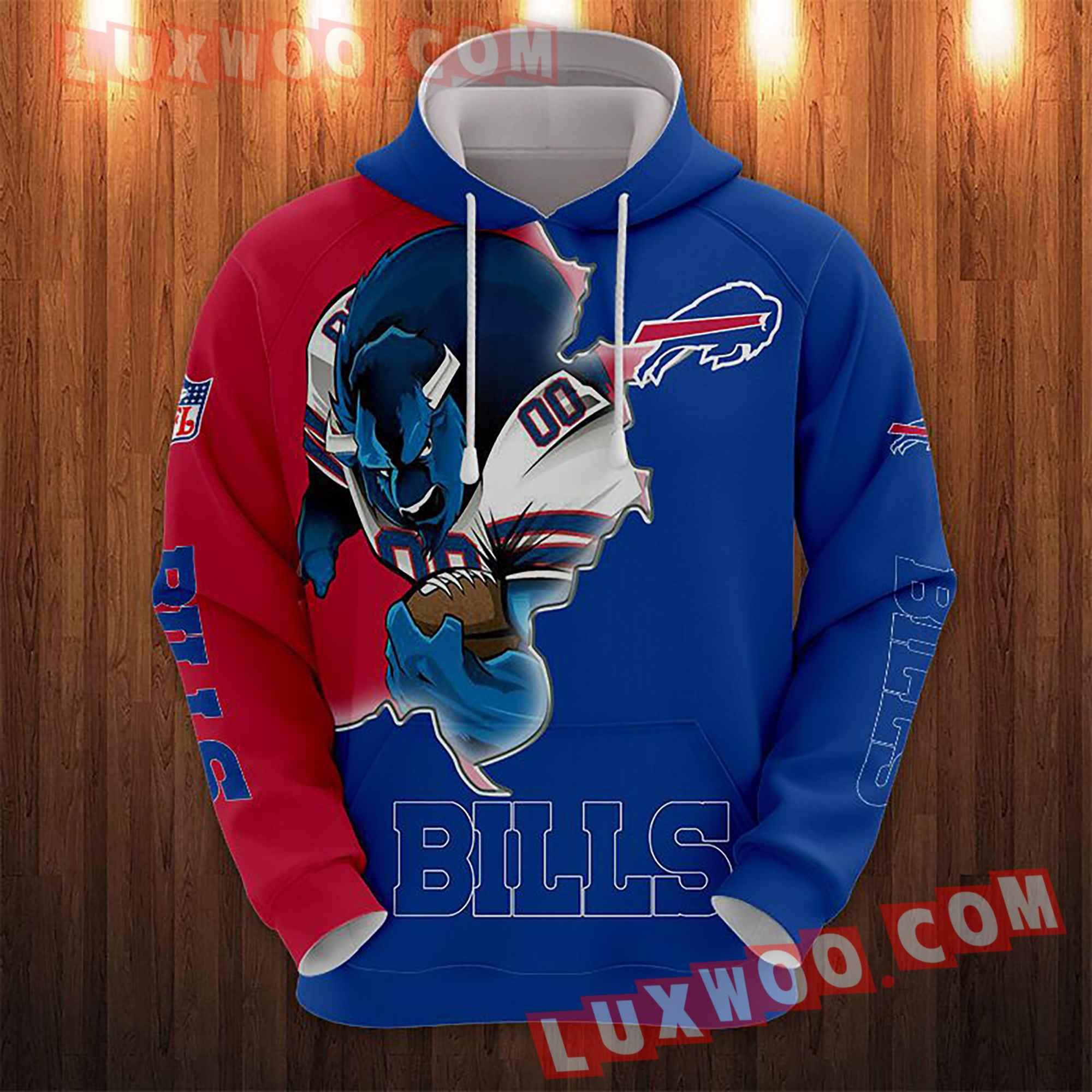 Nfl Buffalo Bills Hoodies Custom All Over Print 3d Pullover Hoodie V6