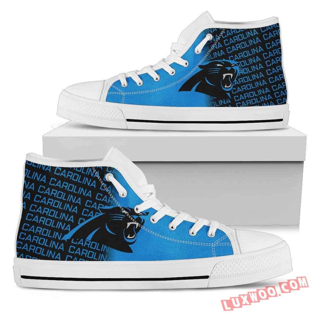 Nfl Carolina Panthers High Top Shoes