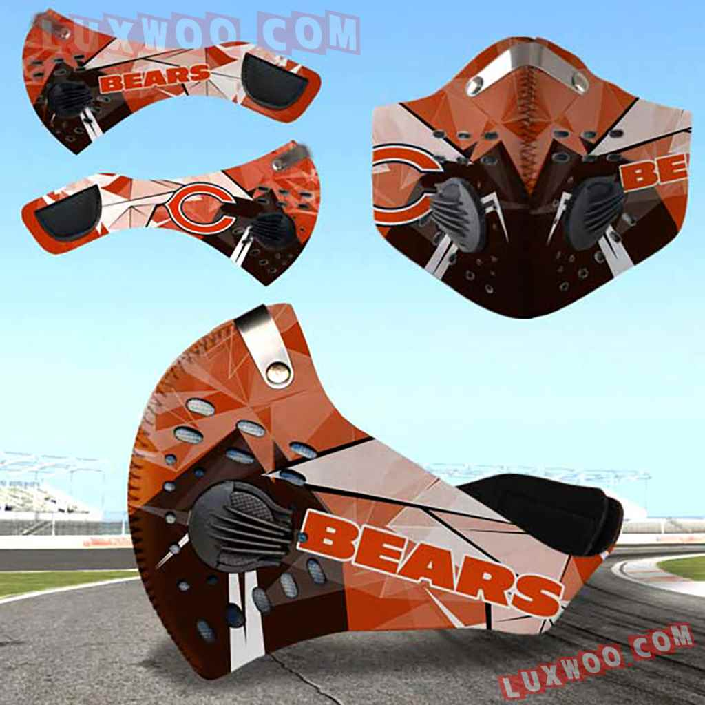 Chicago Bears 3d Face Mask Actice Cacbon Filter V2