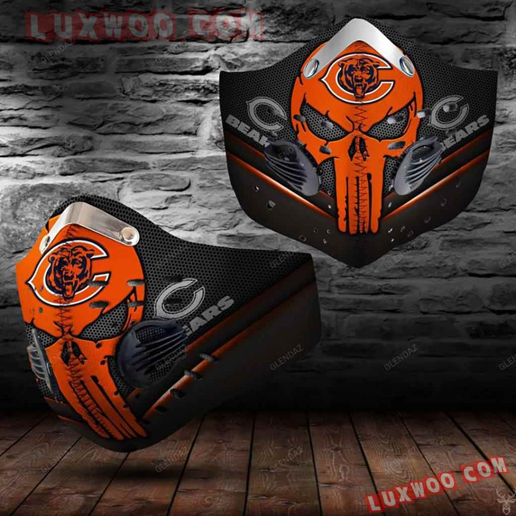 Chicago Bears 3d Face Mask Actice Cacbon Filter V3
