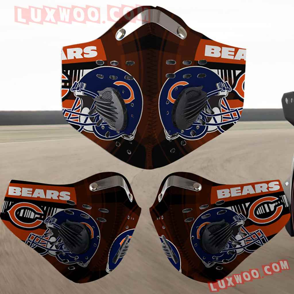 Chicago Bears 3d Face Mask Actice Cacbon Filter V4