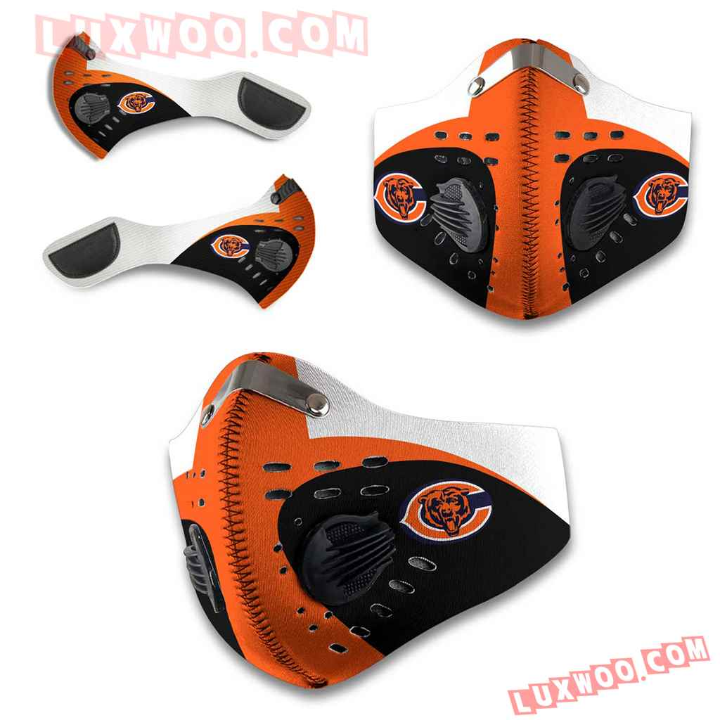 Chicago Bears 3d Face Mask Actice Cacbon Filter V5