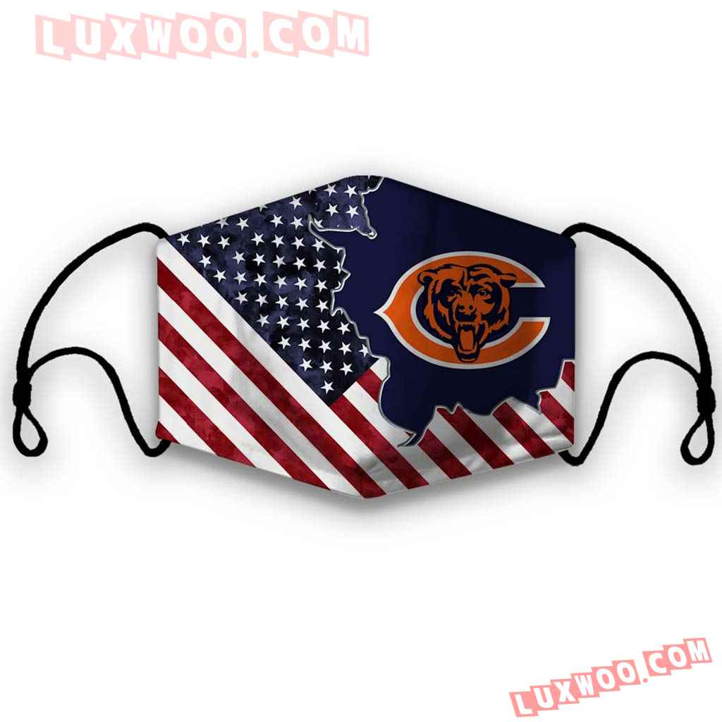 Chicago Bears 3d Face Mask V1