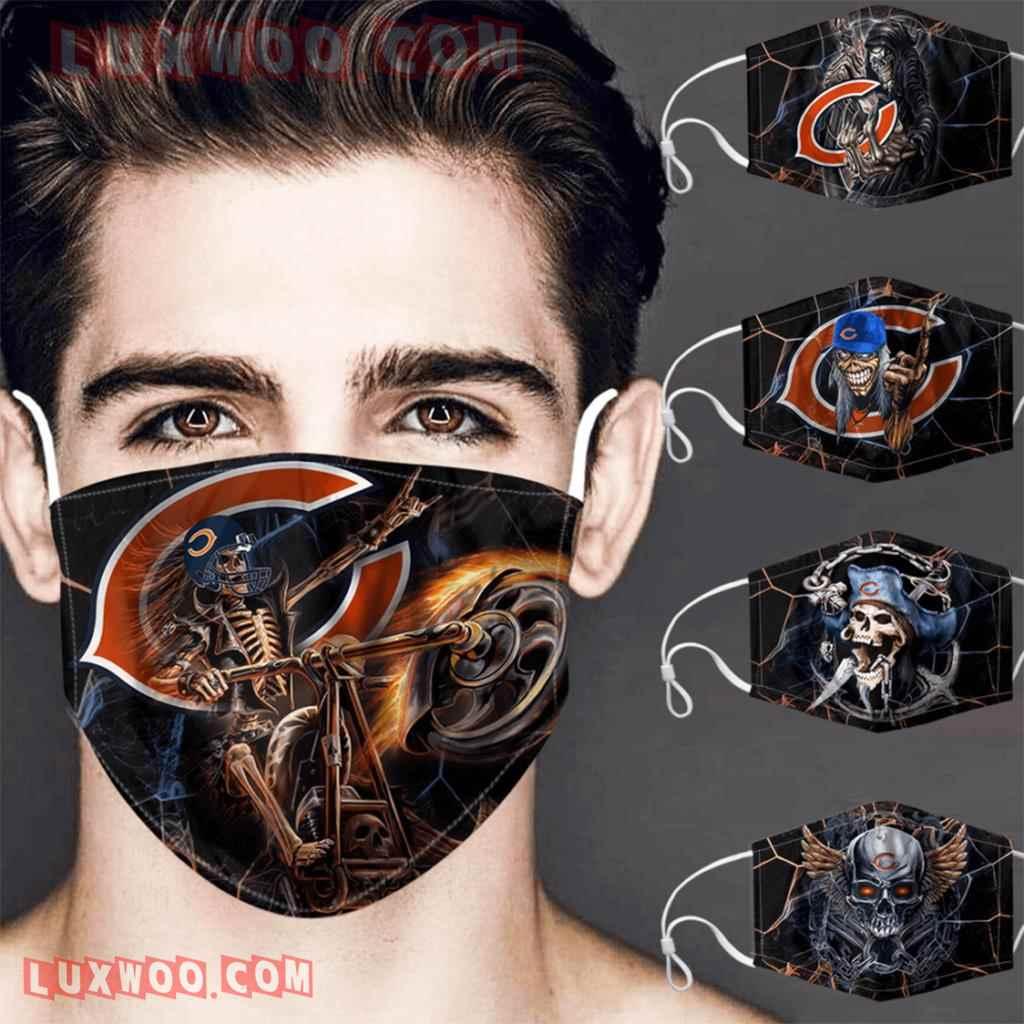 Chicago Bears 3d Face Mask V2 Set Combo 5 Mask