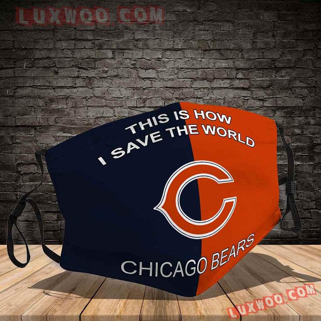 Chicago Bears 3d Face Mask V2