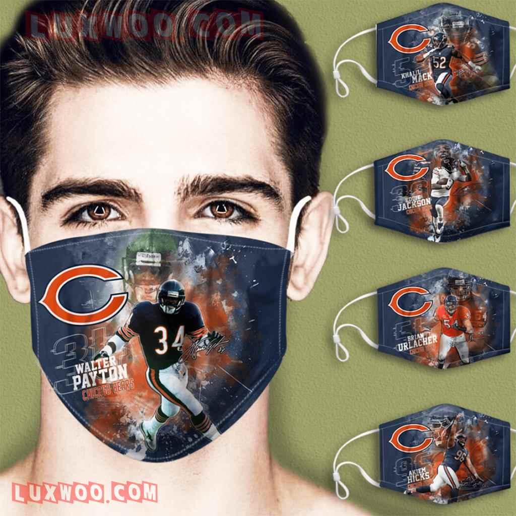 Chicago Bears 3d Face Mask V5 Set Combo 5 Mask