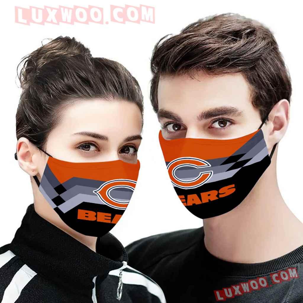 Chicago Bears 3d Face Mask V9