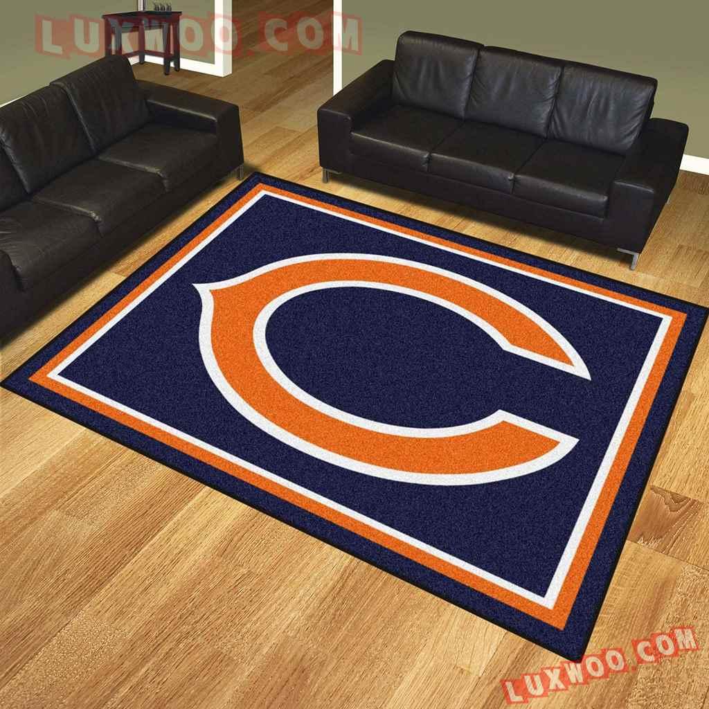 Chicago Bears Nfl 3d Living Room Rugs V1