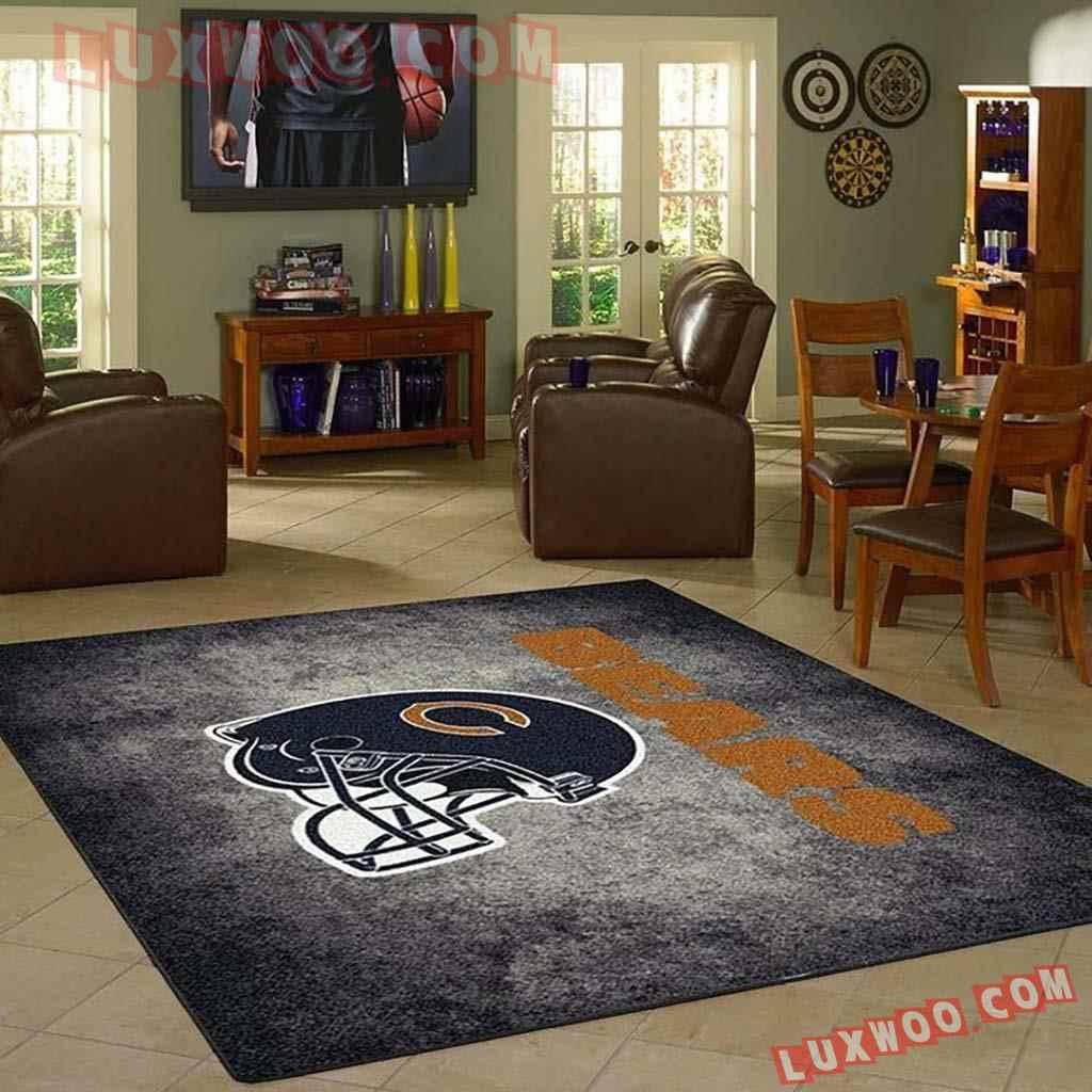 Chicago Bears Nfl 3d Living Room Rugs V2