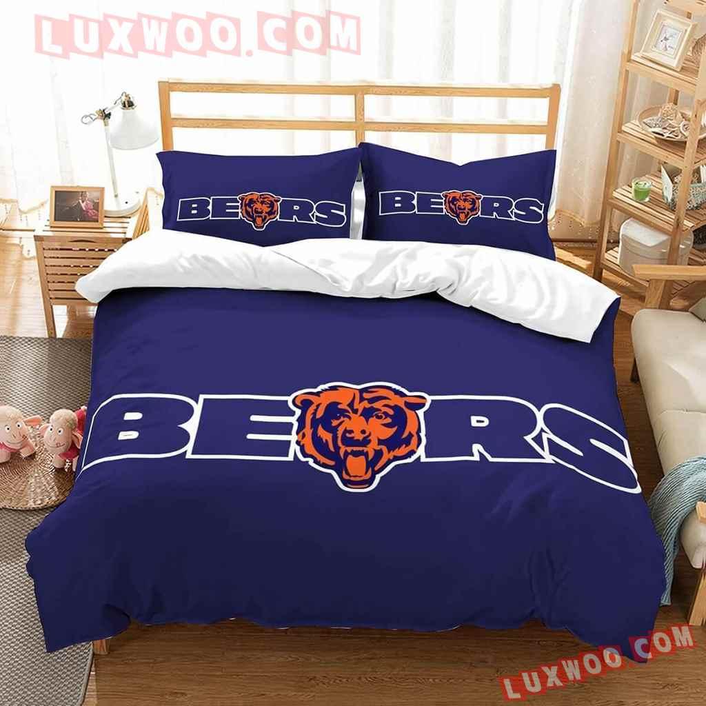 Chicago Bears Nfl 3d Quilt Bedding Set V1