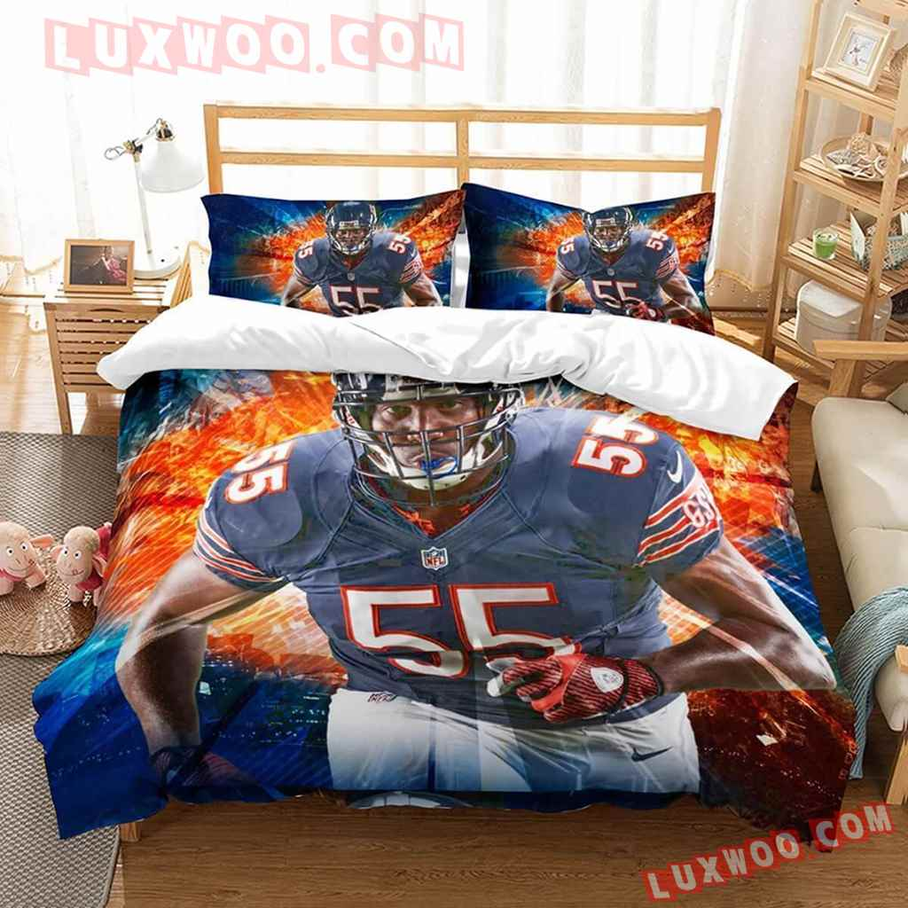 Chicago Bears Nfl 3d Quilt Bedding Set V2