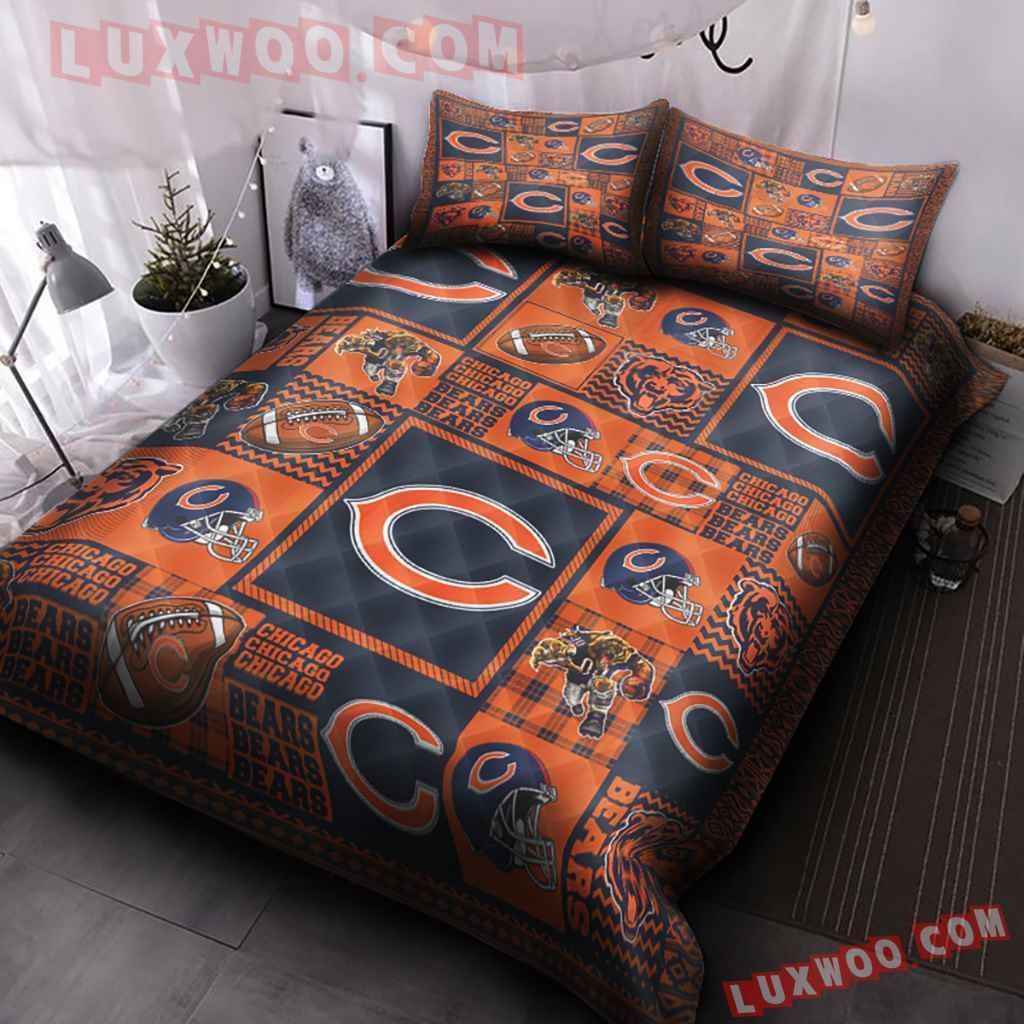 Chicago Bears Nfl 3d Quilt Bedding Set V4