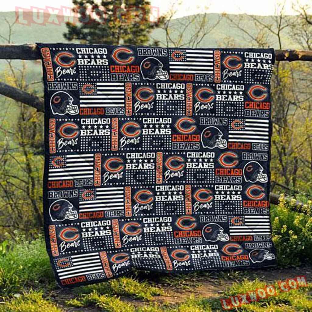 Chicago Bears Nfl 3d Quilt Blanket V1