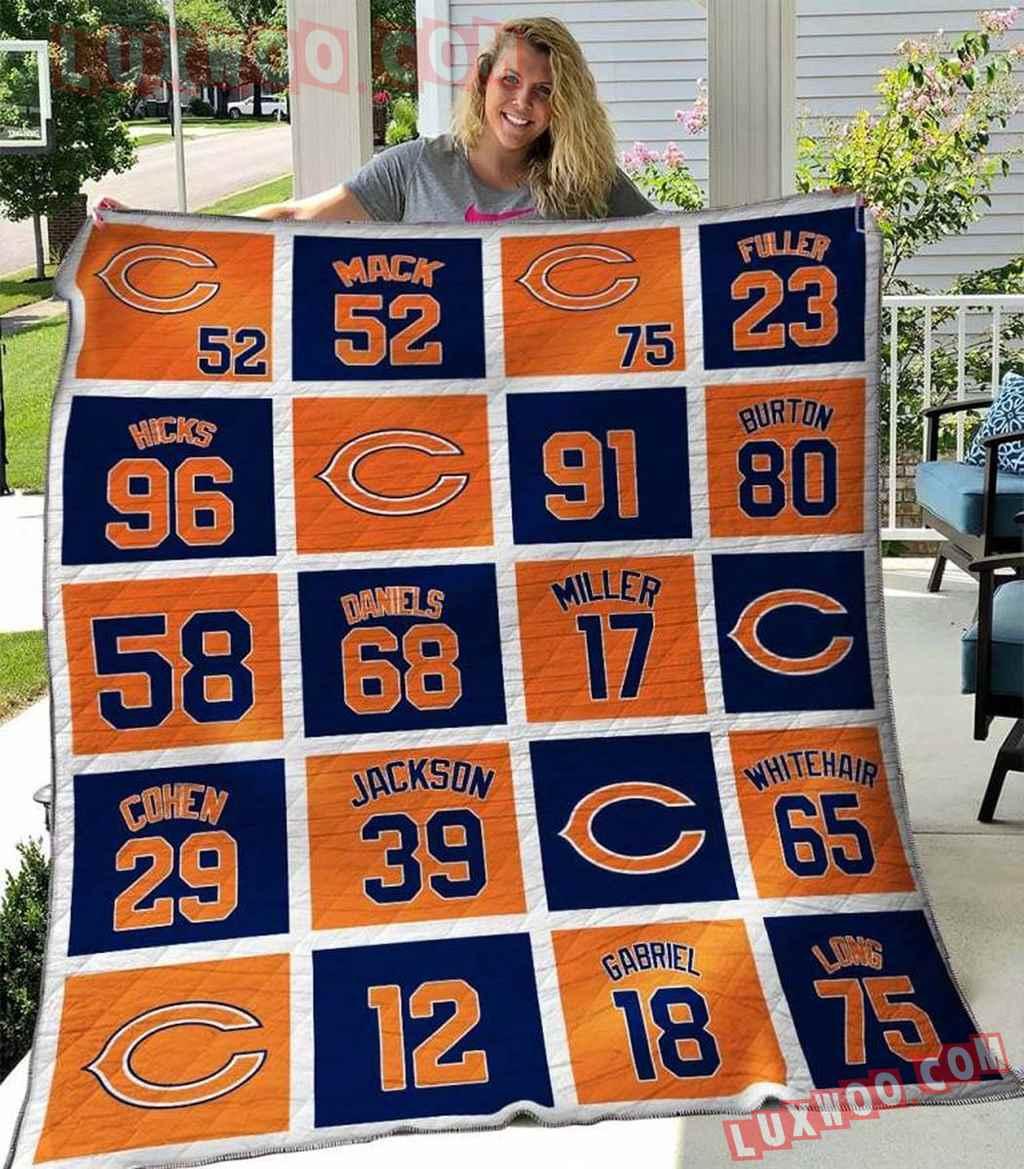 Chicago Bears Nfl 3d Quilt Blanket V2
