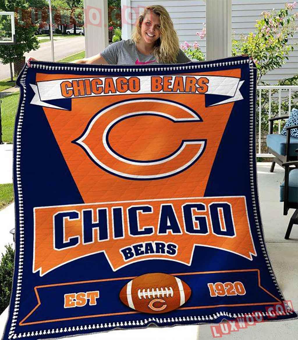 Chicago Bears Nfl 3d Quilt Blanket V23
