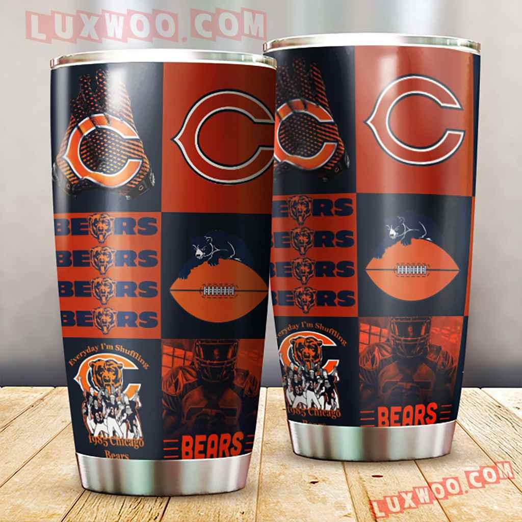 Chicago Bears Nfl 3d Tumbler V1