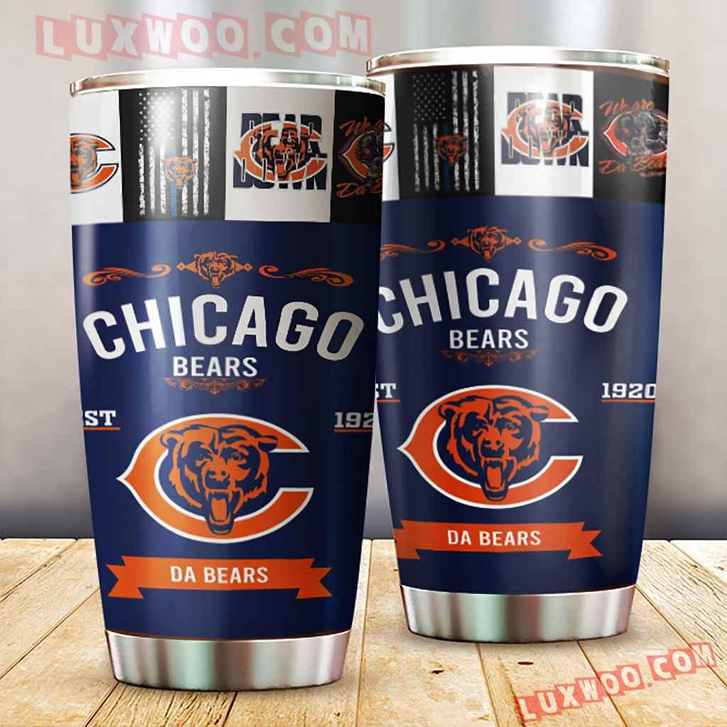 Chicago Bears Nfl 3d Tumbler V2