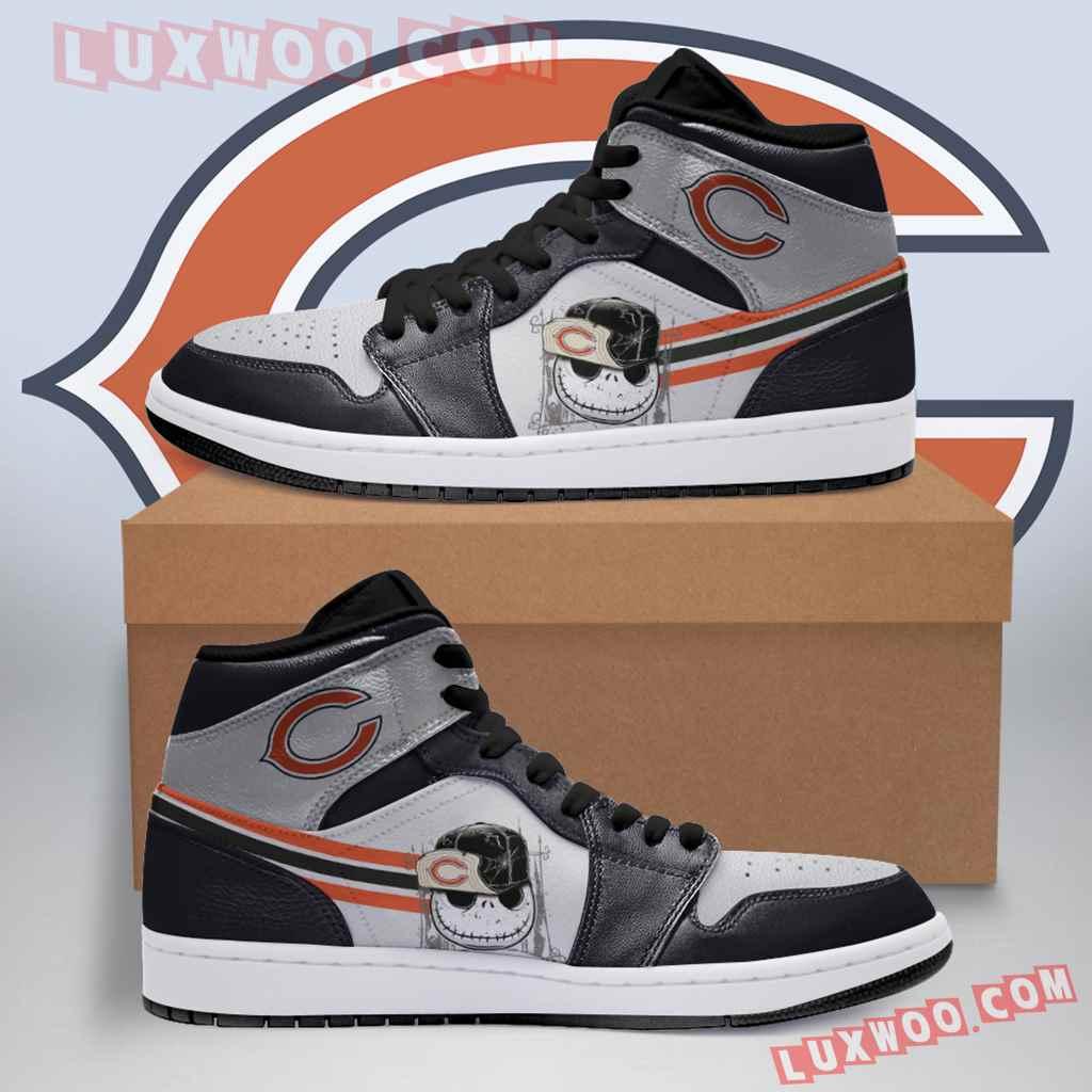 Chicago Bears Nfl Air Jordan 1 Custom Shoes Sneaker V3