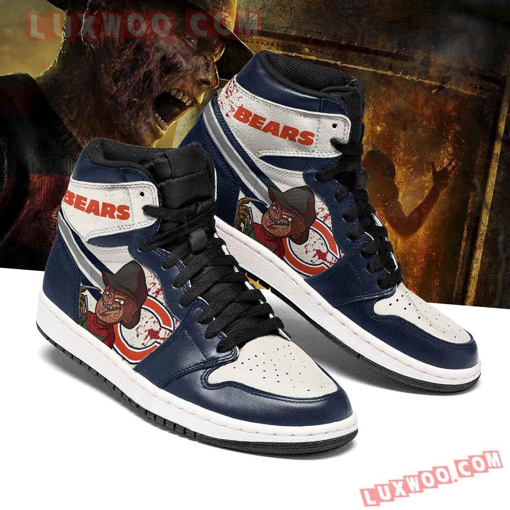 Chicago Bears Nfl Air Jordan 1 Custom Shoes Sneaker V4