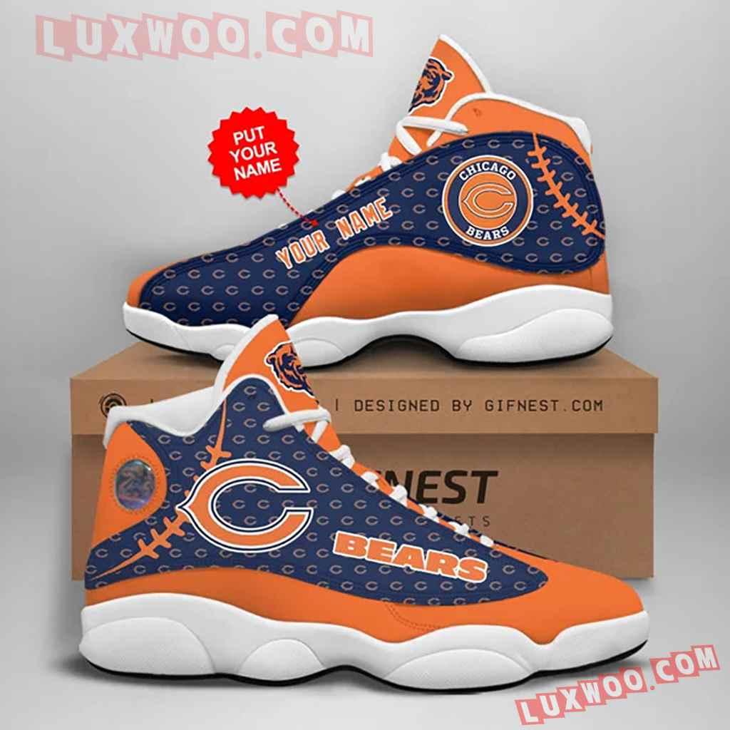 Chicago Bears Nfl Air Jordan 13 Custom Shoes Sneaker V2 Plus Size