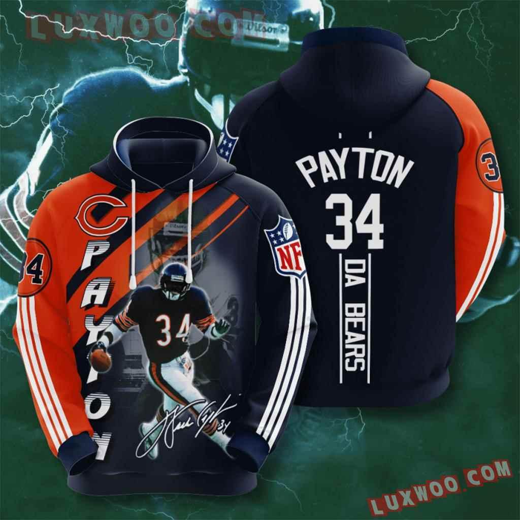 Chicago Bears Nfl Custom All Over Print 3d Pullover Hoodie V1
