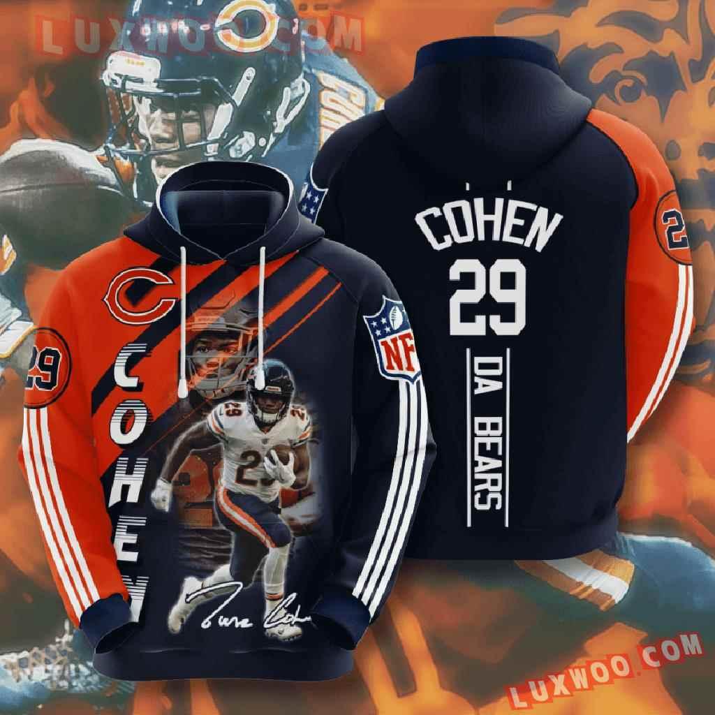 Chicago Bears Nfl Custom All Over Print 3d Pullover Hoodie V10