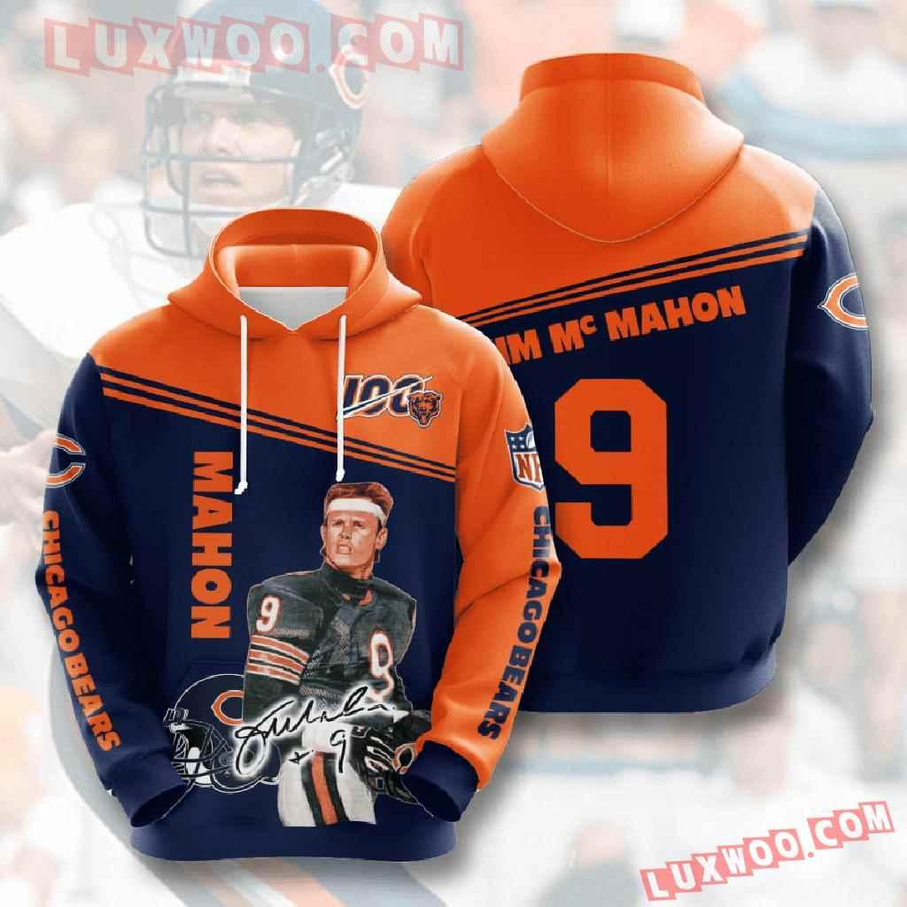 Chicago Bears Nfl Custom All Over Print 3d Pullover Hoodie V13