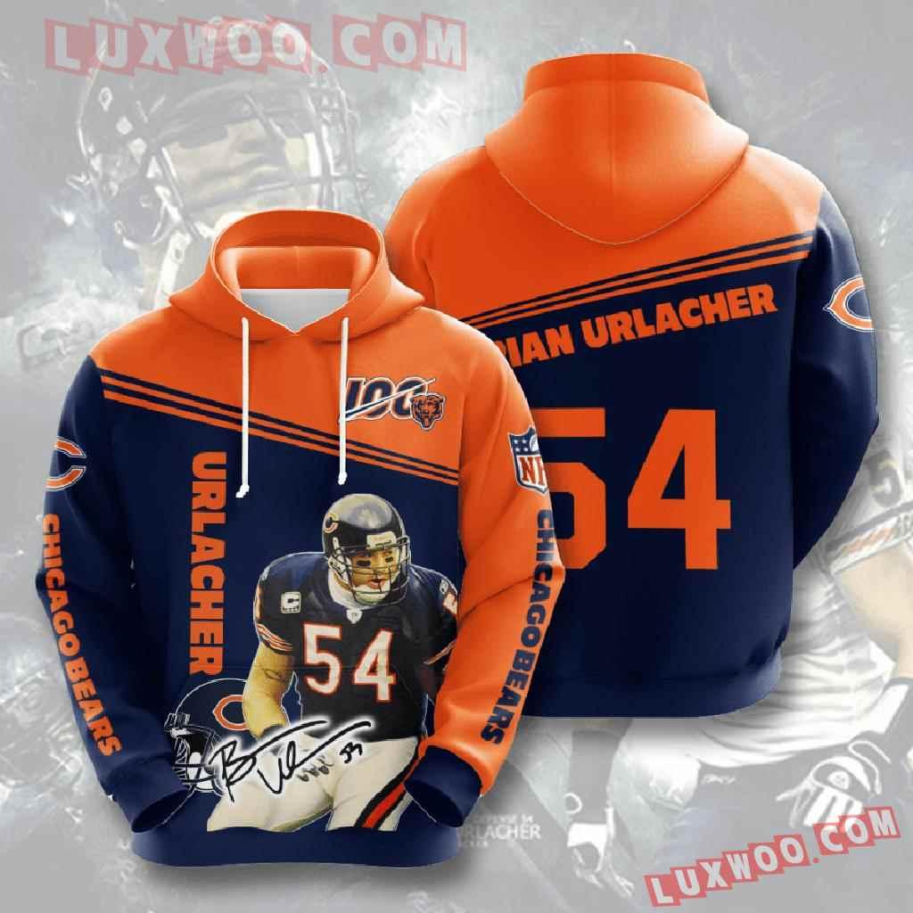 Chicago Bears Nfl Custom All Over Print 3d Pullover Hoodie V14