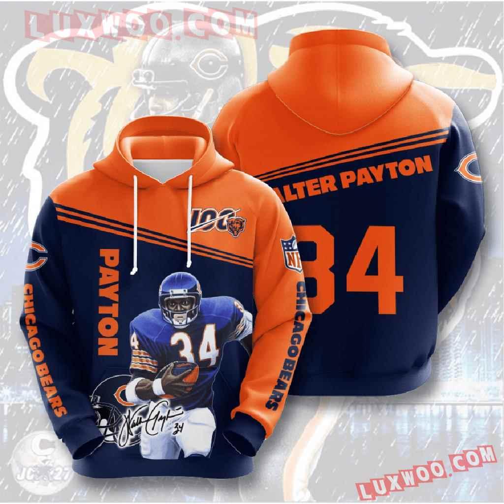 Chicago Bears Nfl Custom All Over Print 3d Pullover Hoodie V15
