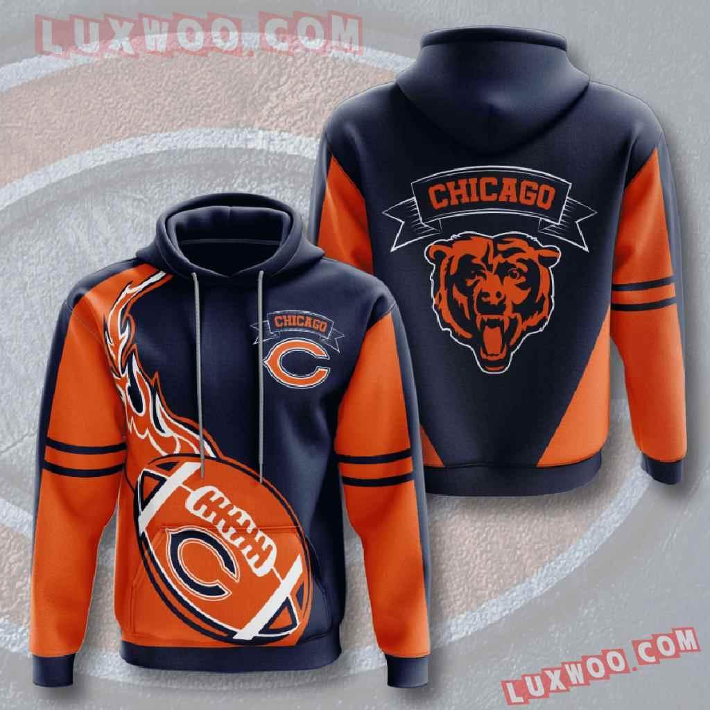 Chicago Bears Nfl Custom All Over Print 3d Pullover Hoodie V18
