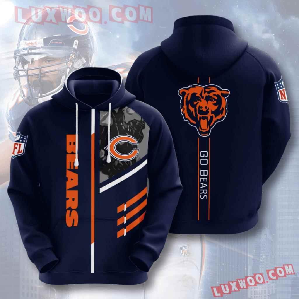 Chicago Bears Nfl Custom All Over Print 3d Pullover Hoodie V19