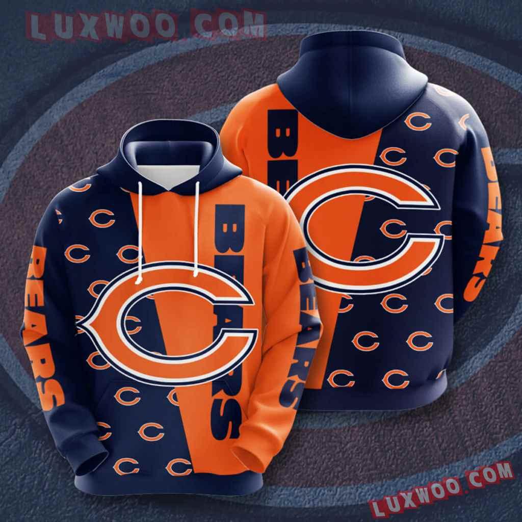 Chicago Bears Nfl Custom All Over Print 3d Pullover Hoodie V3