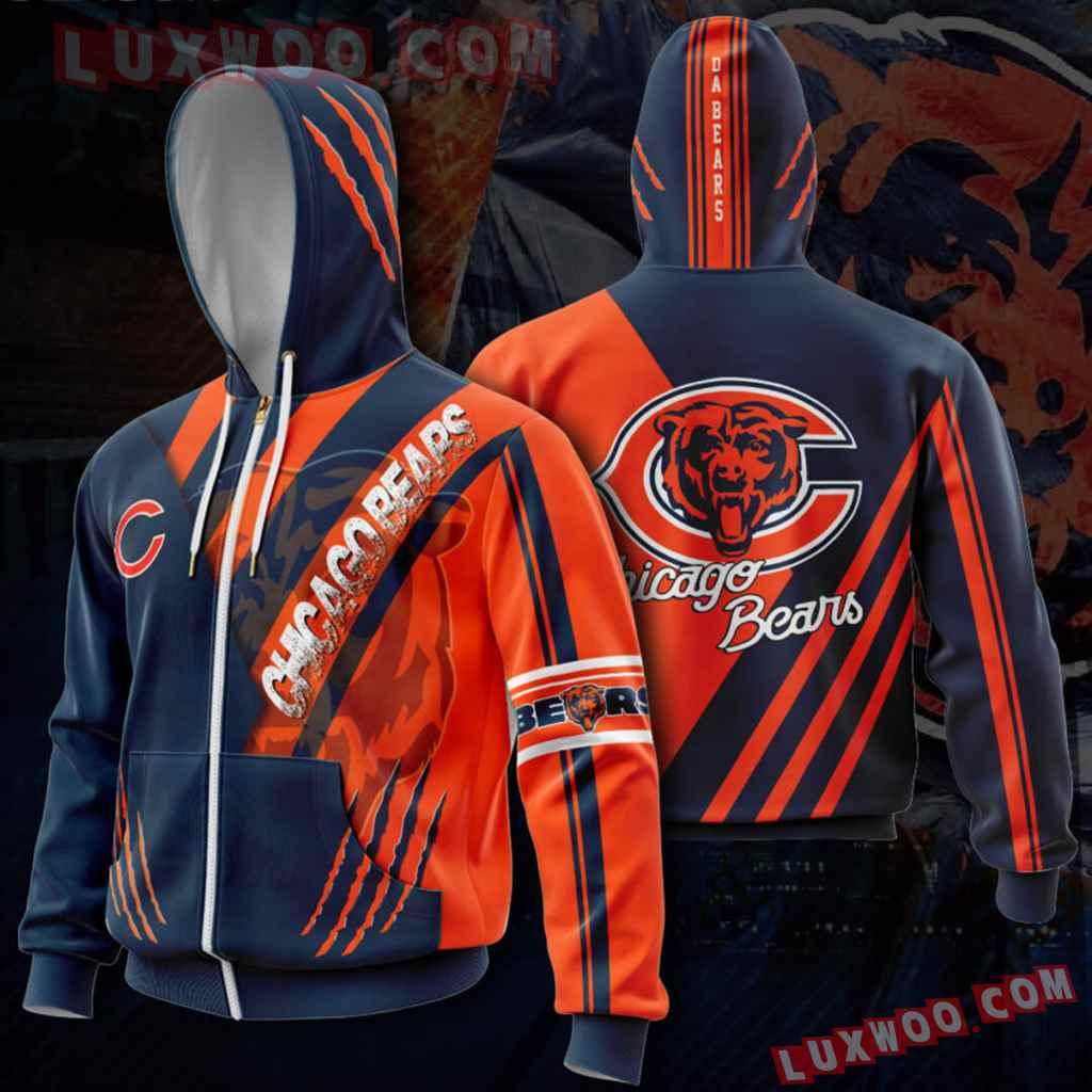 Chicago Bears Nfl Custom All Over Print 3d Pullover Hoodie V5