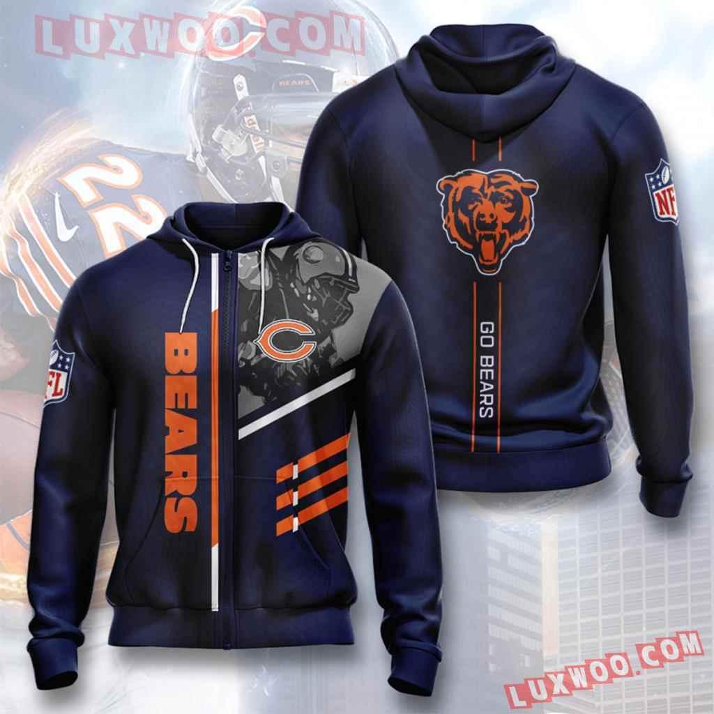 Chicago Bears Nfl Custom All Over Print 3d Pullover Hoodie V6