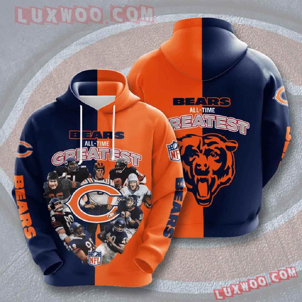 Chicago Bears Nfl Custom All Over Print 3d Pullover Hoodie V7