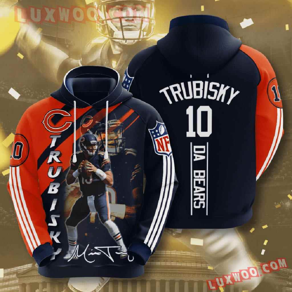 Chicago Bears Nfl Custom All Over Print 3d Pullover Hoodie V9