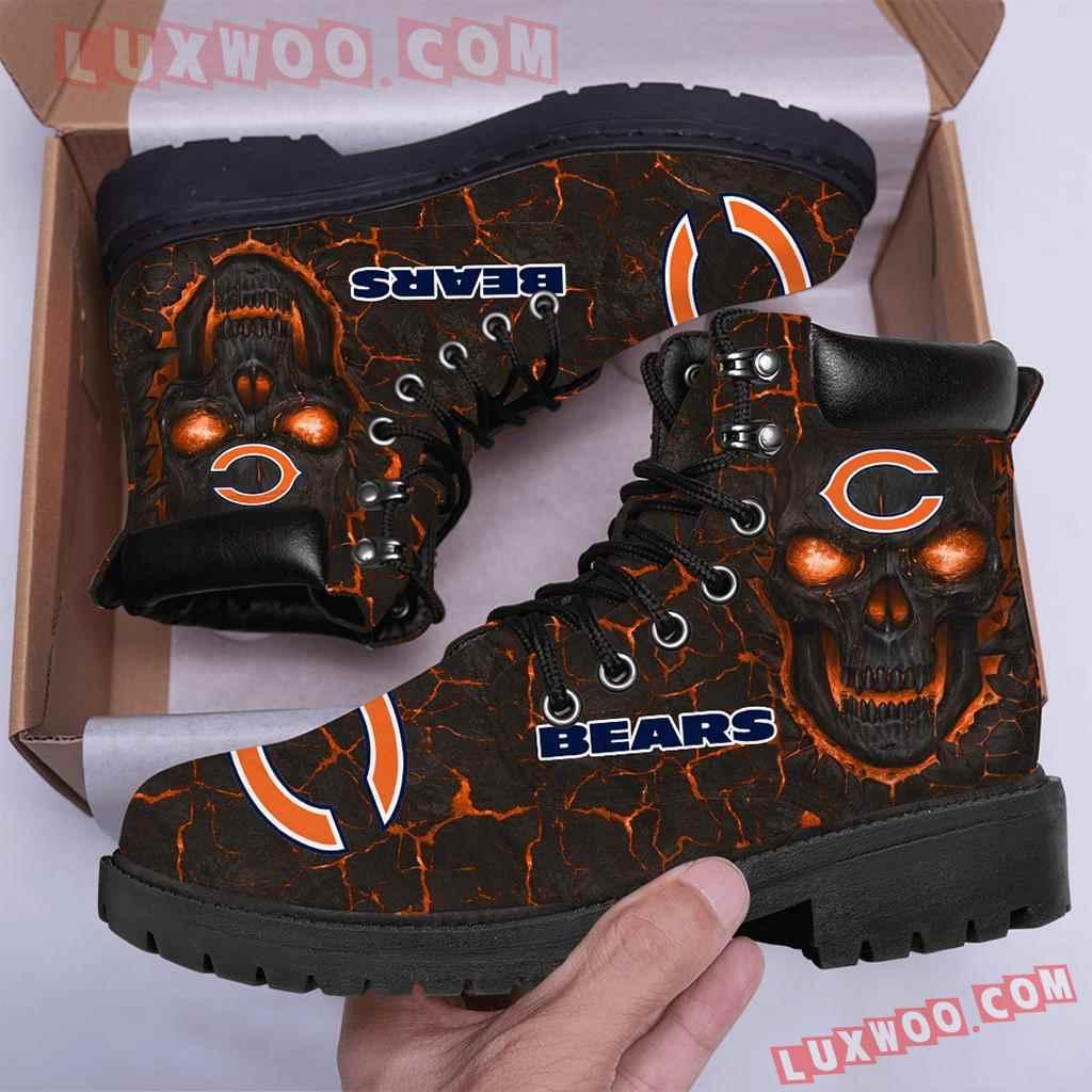 Chicago Bears Nfl Season Boots Shoes V1