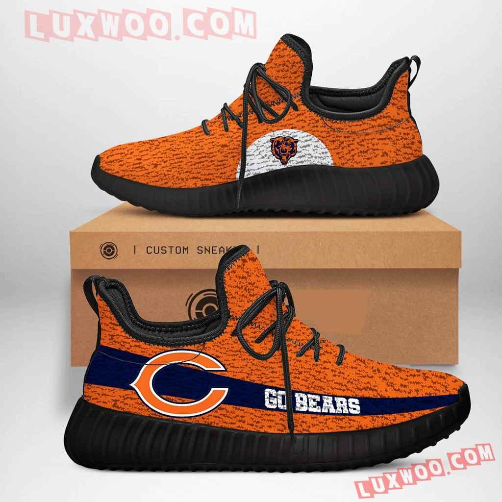 Chicago Bears Nfl Yezzy Custom Shoes Sneaker V3