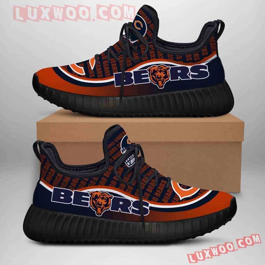 Chicago Bears Nfl Yezzy Custom Shoes Sneaker V6