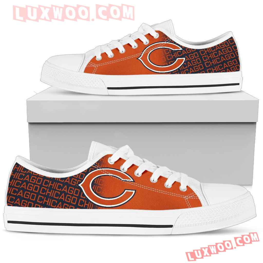 Nfl Chicago Bears Low Top Shoes Sneaker Sport V1